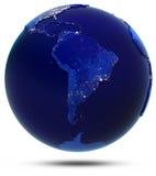 South America city lights Stock Photo