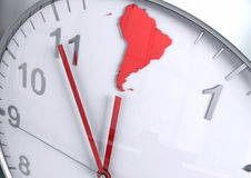 South America continent countdown Royalty Free Stock Image