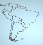 South America 3D Royalty Free Stock Photography