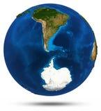 South America 3d vector illustration