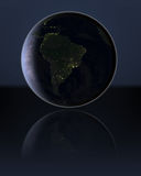 South America in the dark Royalty Free Stock Photography