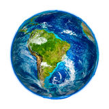 South America on detailed model of Earth Royalty Free Stock Photo