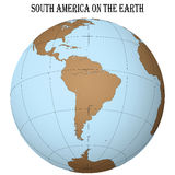 South america on the earth Royalty Free Stock Image