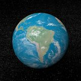South america on earth - 3D render Stock Photography