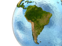South America on Earth Royalty Free Stock Photo
