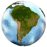 South America on Earth Royalty Free Stock Images