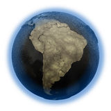 South America on Earth of oil Stock Photo
