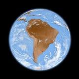 South America on Earth Stock Photos