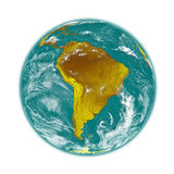 South America on Earth Stock Photography