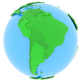 South America on Earth Stock Photos