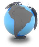 South America on Earth Royalty Free Stock Photography