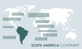 South america facts background Royalty Free Stock Photography
