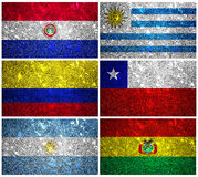South America flags 1 Stock Photos