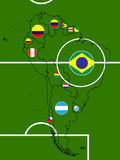 South America Football Map Circles Stock Photo