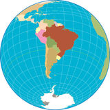 South America globe. Stock Images
