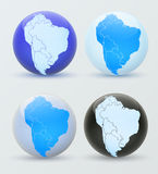 South America on a globe. Royalty Free Stock Image