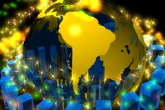 South america halo globe Royalty Free Stock Image