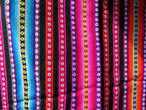 South America Indian woven fabrics Royalty Free Stock Photos