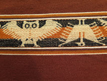 South America Indian woven fabrics Royalty Free Stock Images