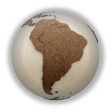 South America on light Earth Stock Photography