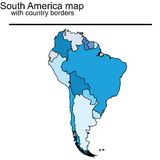 South America map Stock Images