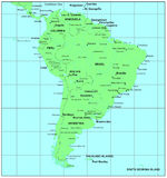 South America map stock illustration