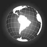 South America map in black and white Royalty Free Stock Photos