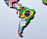 South America map 3d illustration Stock Photos