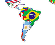 South America map 3d illustration on white Stock Image