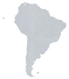 South America map gray radial dot pattern Royalty Free Stock Photo