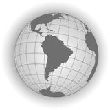 South America map in gray tones Stock Photo