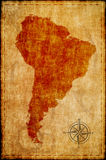 South america map on parchment Royalty Free Stock Photo