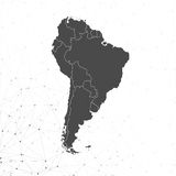 South America map vector, illustration for Royalty Free Stock Image