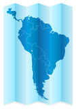 South America map Royalty Free Stock Images