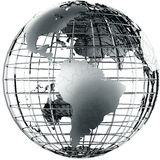 South America in metal Stock Images