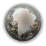South America on metallic Earth Royalty Free Stock Image