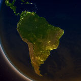 South America at night Stock Images
