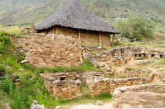 South America, Peru ancient ruins, Temple of Kotosh, Huanuco Royalty Free Stock Images
