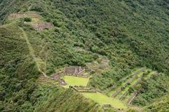 South America - Peru, Inca ruins of Choquequirao. Peru - Choquequirao lost ruins mini - Machu Picchu, remote, spectacular the Inca ruins near Cuzco stock image