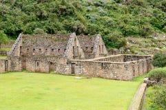 South America - Peru, Inca ruins of Choquequirao. Peru - Choquequirao lost ruins mini - Machu Picchu, remote, spectacular the Inca ruins near Cuzco royalty free stock photo