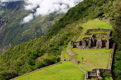South America - Peru, Inca ruins of Choquequirao. South America - Choquequirao lost ruins (mini - Machu Picchu), remote, spectacular the Inca ruins near Cuzco stock photography