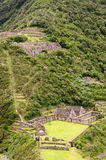 South America - Peru, Inca ruins of Choquequirao Royalty Free Stock Photography