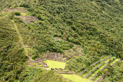South America - Peru, Inca ruins of Choquequirao Royalty Free Stock Image