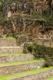 South America, Peru, Ollantaytambo Inca fortress Royalty Free Stock Photos