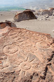 South America, Peru, Toro Muerto Petroglyphs. South America, Toro Muerto is a collection of ancient petroglyphs in the Peruvian coastal desert, found in the stock images