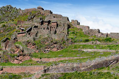 South America, Pisaq Inca ruins, Peru, Sacred Valley, Royalty Free Stock Photography