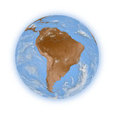 South America on planet Earth Royalty Free Stock Images