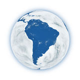 South America on planet Earth Stock Image