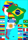 South America political map, vector Royalty Free Stock Image