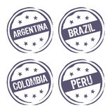 South america rubber stamp Royalty Free Stock Images